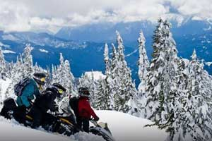 wilderness snowmobiling in whistler